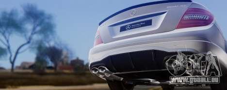 Mercedes-Benz C63 AMG 2013 für GTA San Andreas obere Ansicht