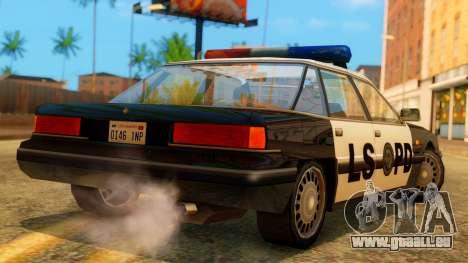 Police LS Intruder für GTA San Andreas linke Ansicht