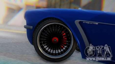 Invetero Coquette BlackFin Convertible pour GTA San Andreas sur la vue arrière gauche