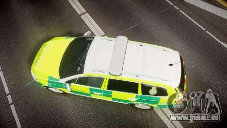 Volkswagen Passat B7 North West Ambulance [ELS] für GTA 4 rechte Ansicht