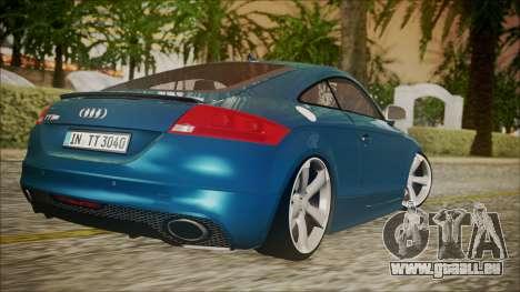 Audi TT RS 2011 v3 pour GTA San Andreas laissé vue