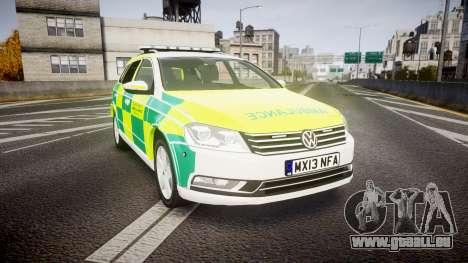 Volkswagen Passat B7 North West Ambulance [ELS] für GTA 4