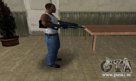 Sniper Blue Snow für GTA San Andreas zweiten Screenshot