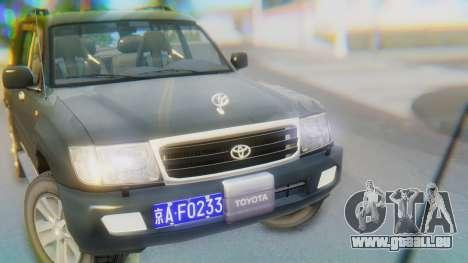 Toyota Land Cruiser 105 für GTA San Andreas Rückansicht