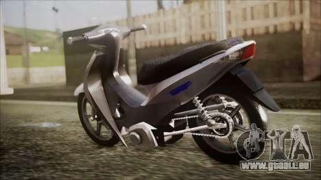 Honda Biz 125 für GTA San Andreas linke Ansicht