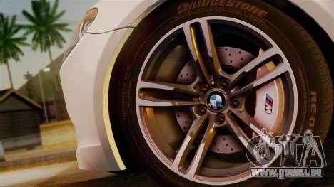 BMW 7 Series F02 2013 pour GTA San Andreas sur la vue arrière gauche