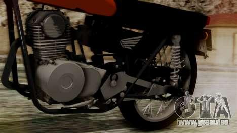 Honda CG 125 Classic für GTA San Andreas Rückansicht