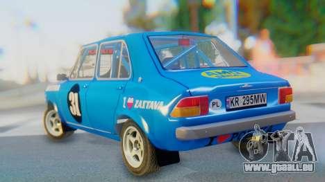 Zastava 1100P Rally pour GTA San Andreas laissé vue