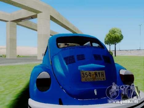 Volkswagen Beetle 1980 Stanced v1 pour GTA San Andreas laissé vue