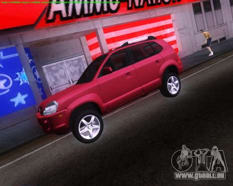 Hyundai Tucson pour GTA San Andreas sur la vue arrière gauche