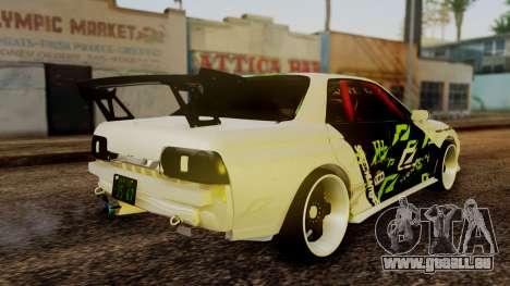 Nissan Skyline R32 Speedhunters pour GTA San Andreas laissé vue