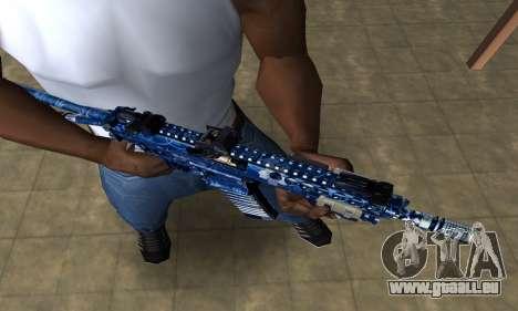Blue Life M4 für GTA San Andreas zweiten Screenshot