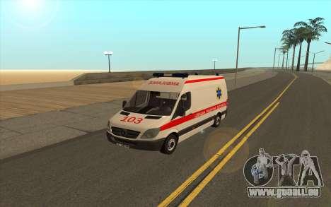 Mercedes-Benz Sprinter Krankenwagen Ukraine für GTA San Andreas