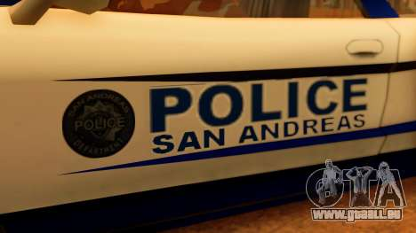 Police Infernus pour GTA San Andreas vue de droite