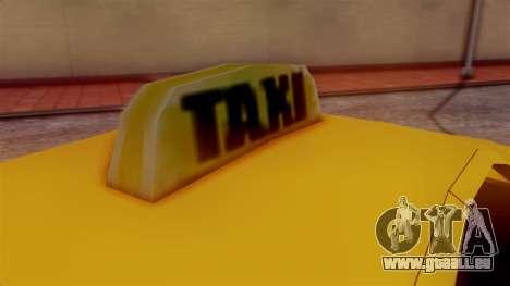 Washington Taxi pour GTA San Andreas sur la vue arrière gauche