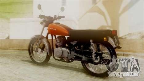 Honda CG 125 Classic pour GTA San Andreas laissé vue
