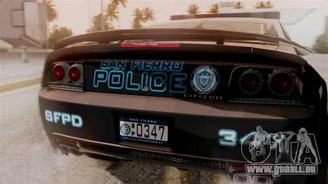 Hunter Citizen from Burnout Paradise Police SF für GTA San Andreas Rückansicht