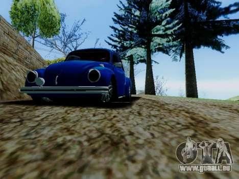 Volkswagen Beetle 1980 Stanced v1 für GTA San Andreas obere Ansicht