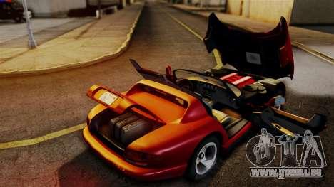 Dodge Viper RT 10 1992 pour GTA San Andreas vue de droite