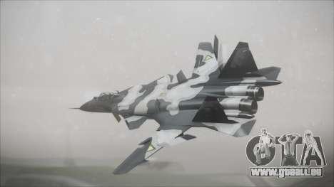 SU-47 Berkut Grabacr Ace Combat 5 pour GTA San Andreas laissé vue