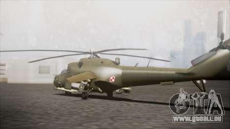 Mil Mi-24W Polish Land Forces pour GTA San Andreas laissé vue
