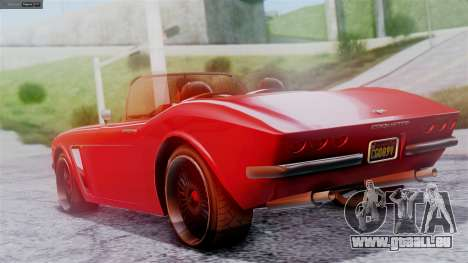 GTA 5 Invetero Coquette BlackFin IVF für GTA San Andreas linke Ansicht