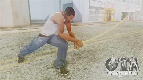 Red Dead Redemption Katana für GTA San Andreas dritten Screenshot