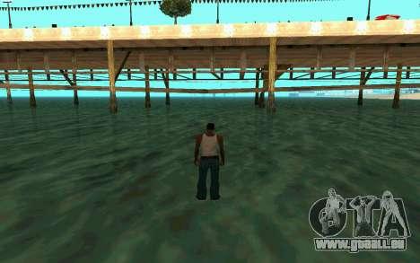 Zu Fuß auf dem Wasser für GTA San Andreas