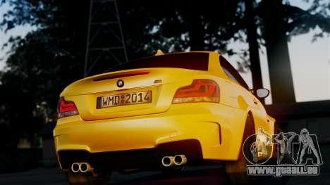 BMW 1M E82 v2 pour GTA San Andreas vue intérieure