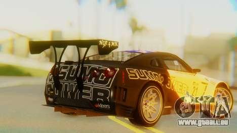 Nissan GT-R GT1 Sumo Tuning pour GTA San Andreas laissé vue