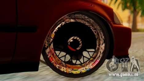 Honda Civic JnR Tuning pour GTA San Andreas sur la vue arrière gauche