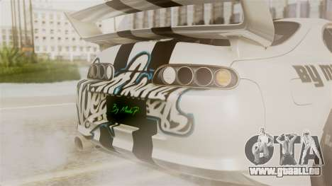 Toyota Supra Full Tuning pour GTA San Andreas vue intérieure