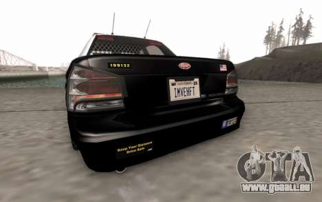 GTA 5 Stanier Police pour GTA San Andreas vue arrière