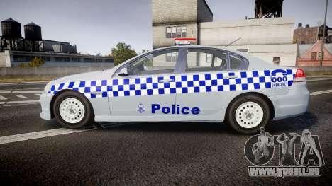 Holden Commodore Omega Victoria Police [ELS] pour GTA 4 est une gauche
