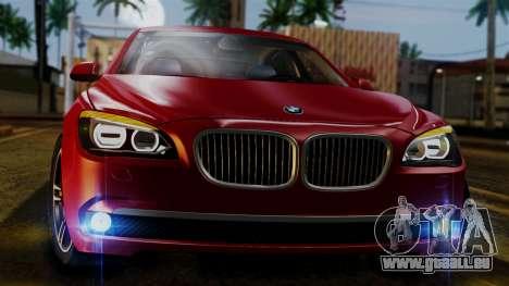 BMW 7 Series F02 2013 pour GTA San Andreas vue intérieure
