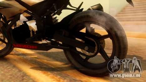 Honda CBR150R K45 für GTA San Andreas Rückansicht