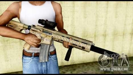 HK416 SOPMOD pour GTA San Andreas troisième écran
