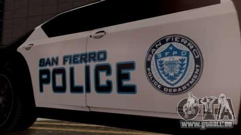 Hunter Citizen from Burnout Paradise Police SF pour GTA San Andreas vue de droite