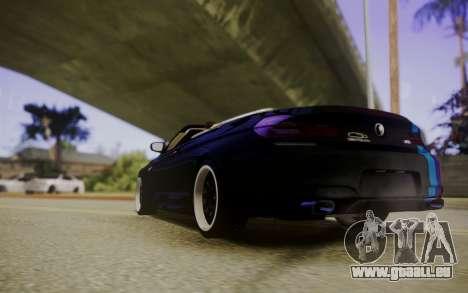 BMW M6 Cabrio pour GTA San Andreas sur la vue arrière gauche