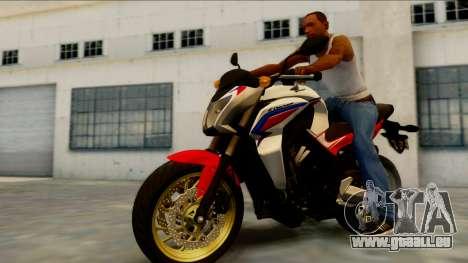 Honda CB650F Tricolor pour GTA San Andreas laissé vue