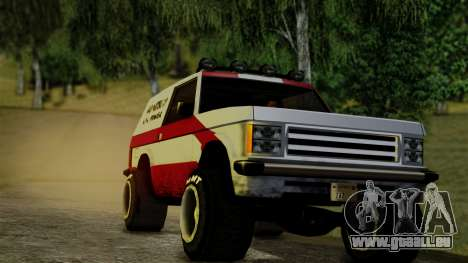 New Sandking pour GTA San Andreas sur la vue arrière gauche