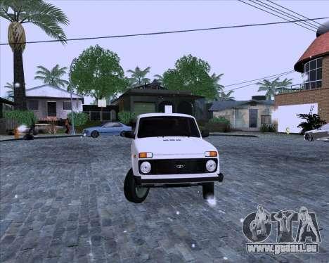 VAZ 2121 Niva 4x4 pour GTA San Andreas sur la vue arrière gauche