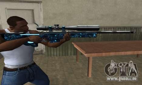 Sniper Blue Snow pour GTA San Andreas troisième écran