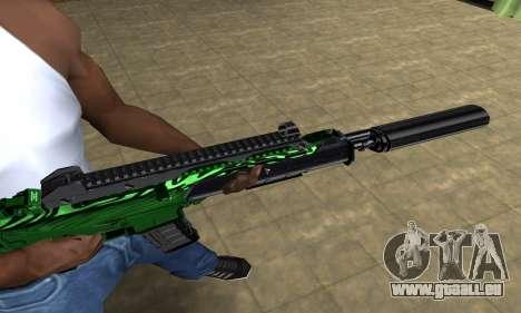 Full Green M4 pour GTA San Andreas deuxième écran