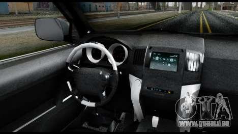 Lexus GX460 für GTA San Andreas zurück linke Ansicht