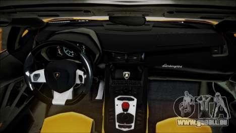 Lamborghini Veneno LP700-4 AVSM Roadster Version für GTA San Andreas Rückansicht