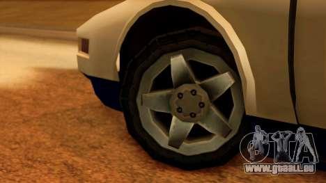 Police Infernus pour GTA San Andreas sur la vue arrière gauche