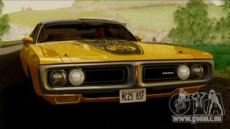 Dodge Charger Super Bee 426 Hemi (WS23) 1971 IVF pour GTA San Andreas sur la vue arrière gauche