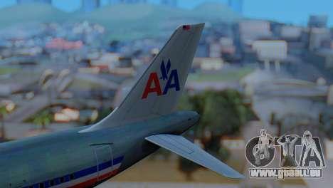 Airbus A320-200 American Airlines (Old Livery) pour GTA San Andreas sur la vue arrière gauche