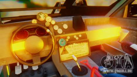 Shelby GT500 Death Race für GTA San Andreas Innenansicht